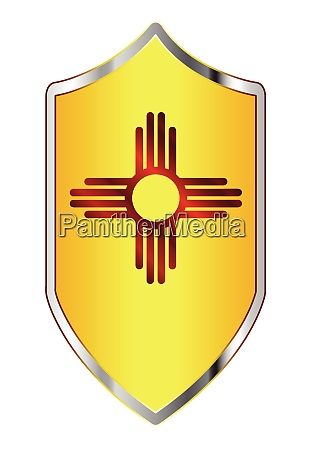new mexico state flag on a