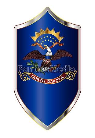 north dakota state flag on a
