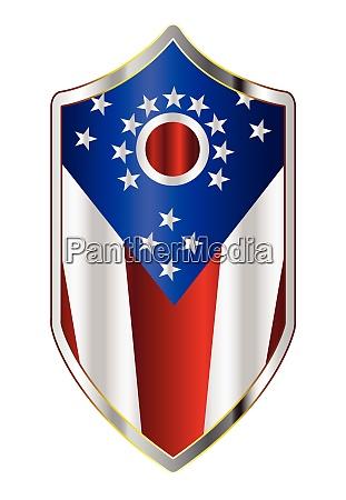 ohio state flag on a crusader