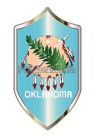 oklahoma state flag on a crusader