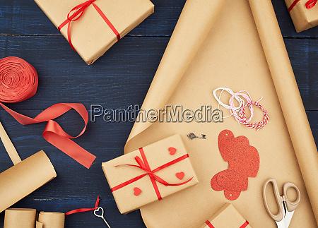 brown kraft paper packed gift bags