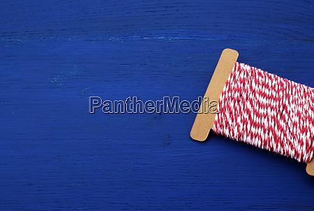 skein of craft red white thread