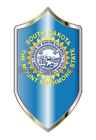 south dakota state flag on a