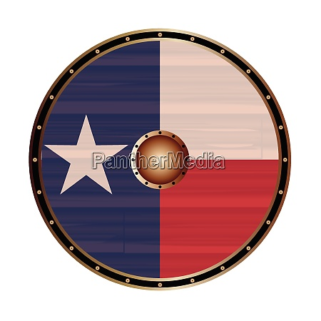 texan flag as viking shield