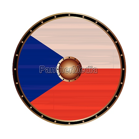 round viking style shield with czech