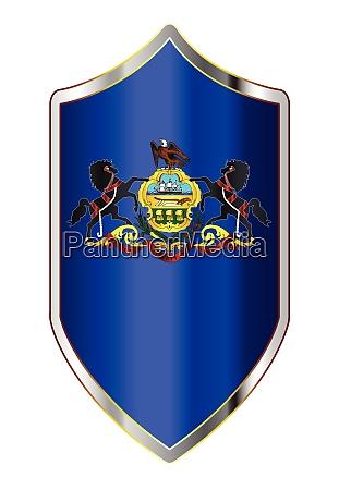 pennsylvania state flag on a crusader