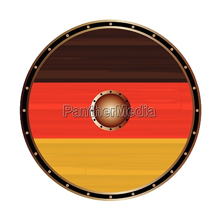 round viking shield with germany flag