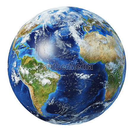 earth globe 3d illustration atlantic ocean