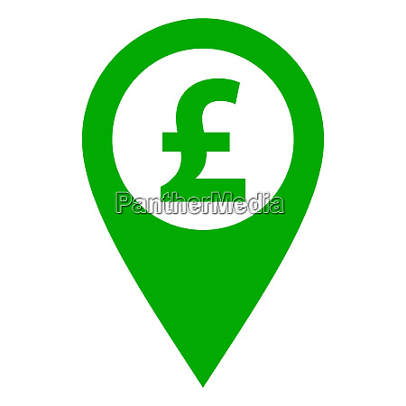 pound sterling and location pin