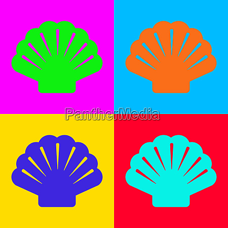 shell and pop art