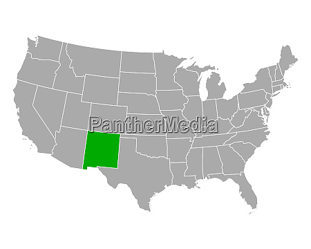 map of new mexico in usa