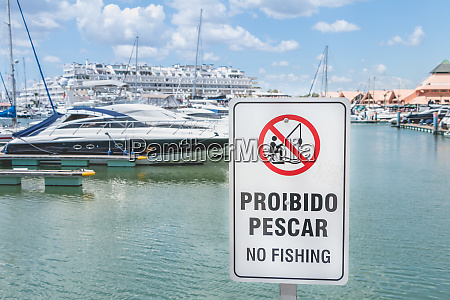 sign, in, portuguese, -, no, fishing - 27959723
