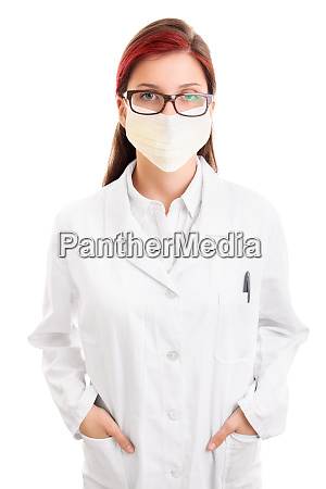 serious looking female doctor with surgical