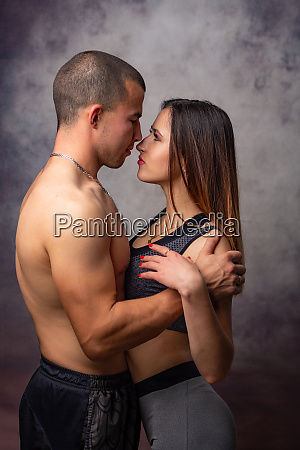 girl and guy of athletic physique