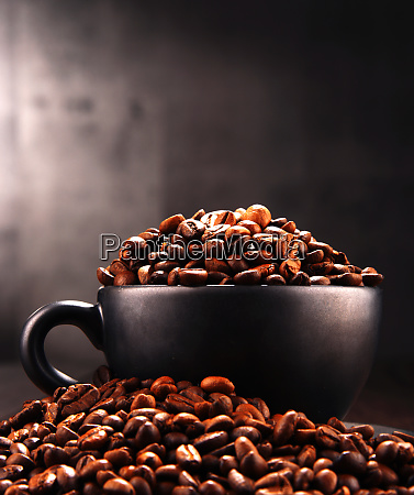 composition with cup of coffee and