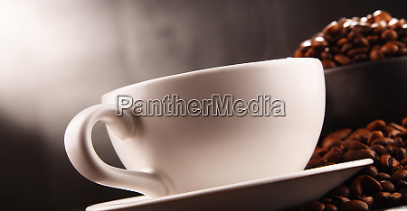 composition with two cups of coffee
