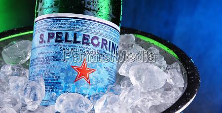 bottle of san pellegrino mineral water
