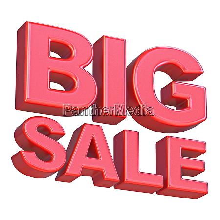 red big sale sign 3d