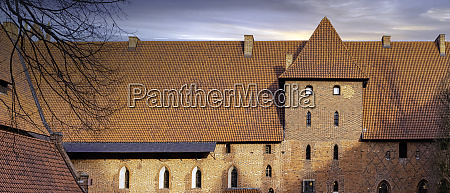 sunrise over castle of the teutonic