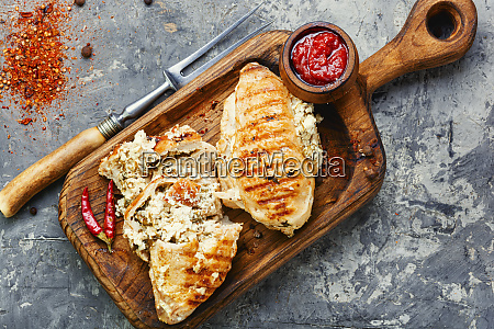 chicken breast with feta cheese