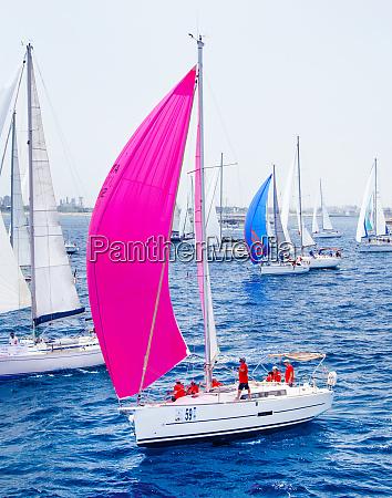 sailing yachts during regatta brindisi