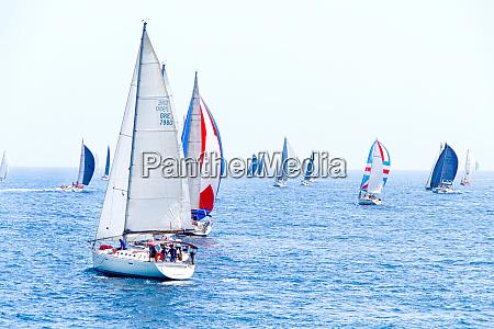 brindisi italy 06162019 sailing yachts