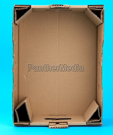 rectangular empty cardboard box of brown