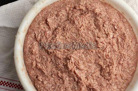 minced pork and lard texture full