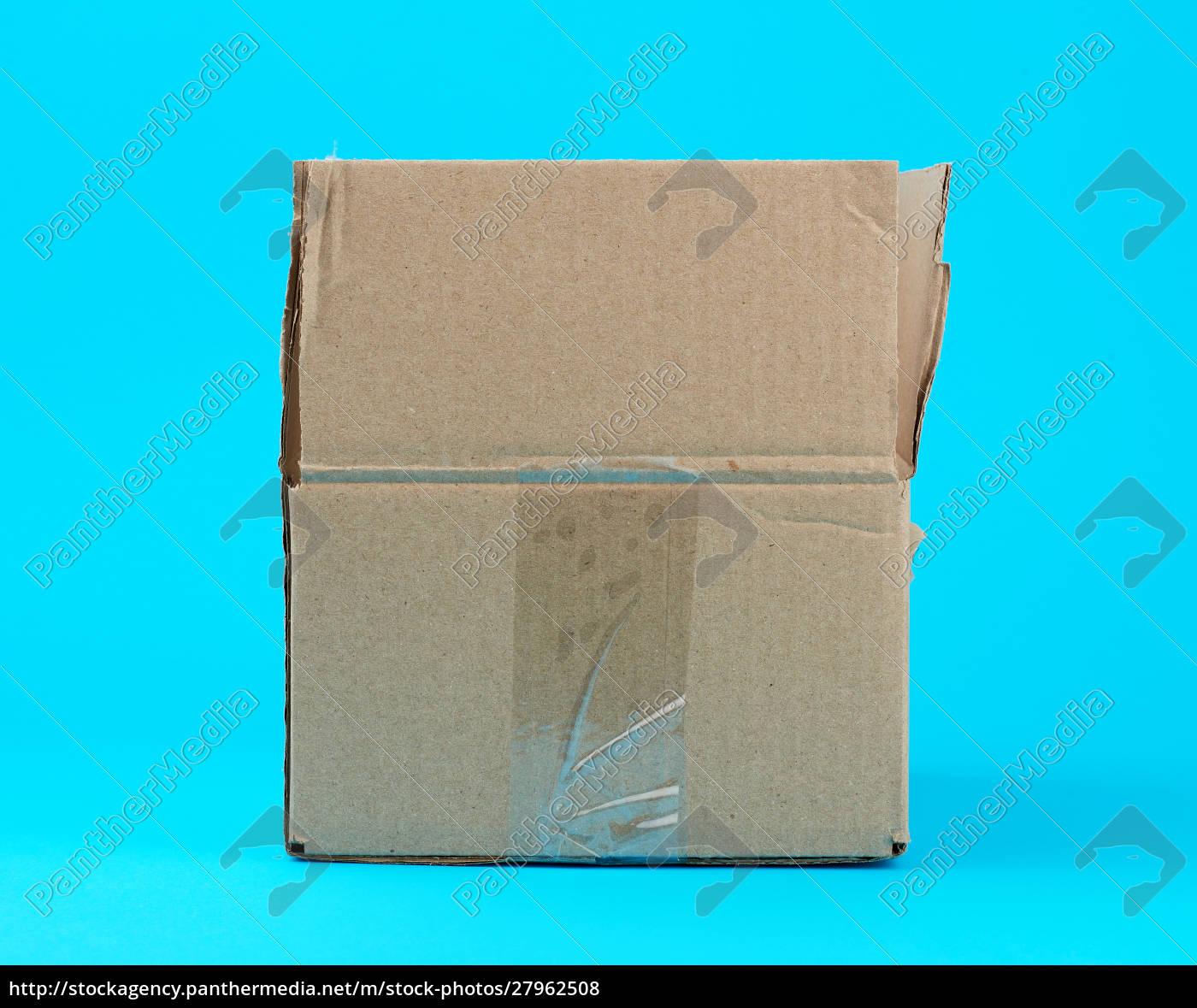 open, brown, cardboard, box, on, a - 27962508