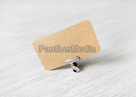 kraft business card