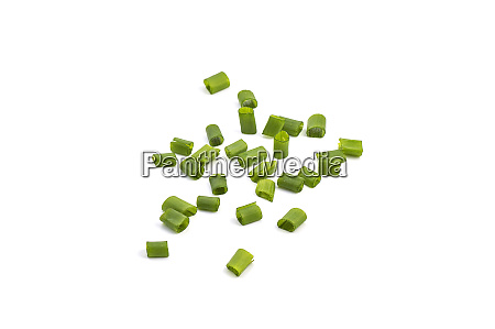 chopped fresh green onions isolated on