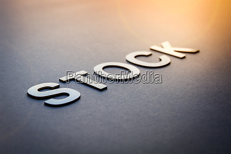 word stock written with white solid