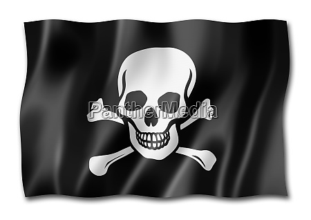 pirate flag jolly roger isolated on