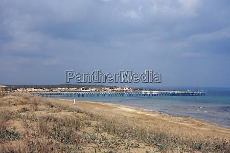 almost deserted sandy beach at bafra