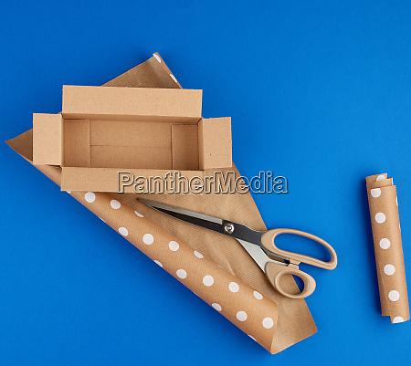 empty cardboard brown box roll of