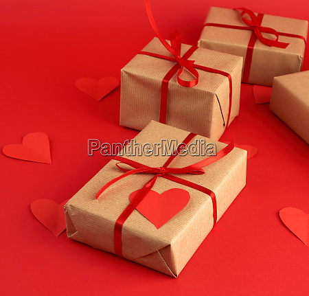 box wrapped in brown kraft paper