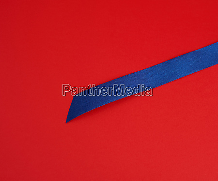 dark blue silk shiny ribbon on