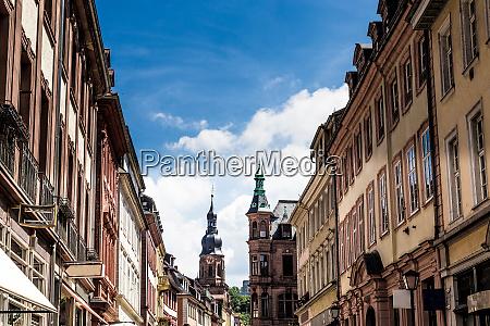 heidelberg facades baden wurttemberg germany