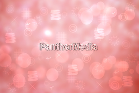 greeting card template abstract festive pink