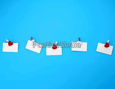 white empty paper rectangular business cards
