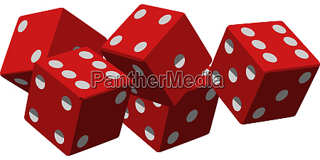 dices game betting gamble five luck