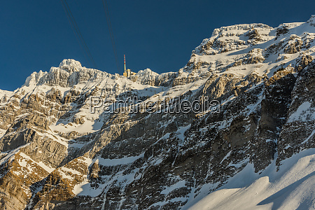 the saentis with summit station in
