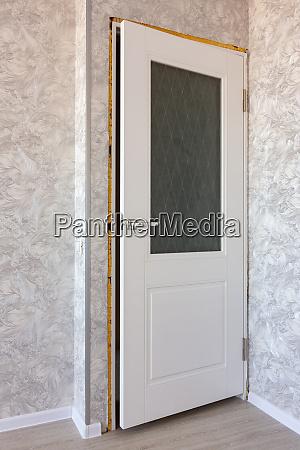 installed new white door in the