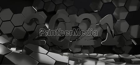 2021 hexagon creative dark design background