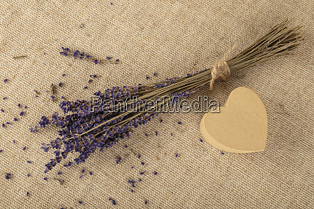 lavender and heart shaped gift box