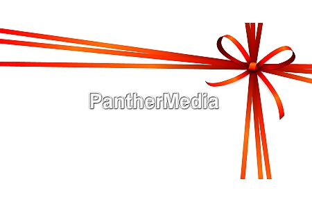red colored ribbon bow