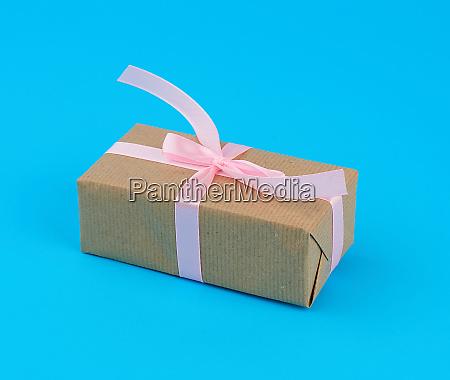 rectangular box wrapped in cinnamon kraft