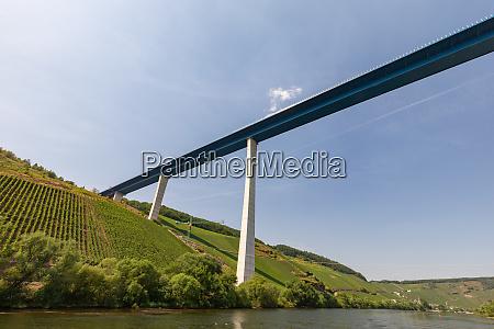 high bridge over river moselle