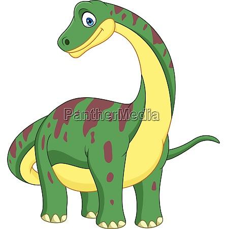 cartoon brontosaurus isolated on white background