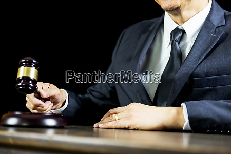 justice and law conceptmale judge in